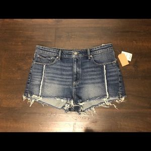 Lucky Brand New High Rise Shortie Denim Shorts